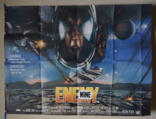 Enemy Mine (1985) Dennis Quaid Film Poster - UK Quad